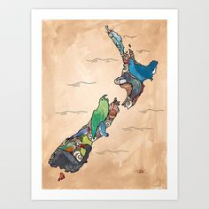 Love this map of New Zealand !!