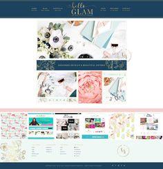 Hello Glam Wordpress Genesis Theme by Hello You Designs on @creativemarket