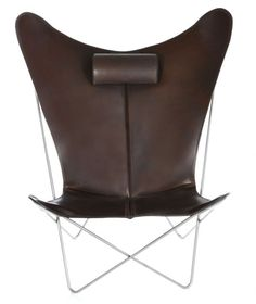 OxDenmarq Armchair KS Chair - Stainless Steel Frame - Leather - Mocca |  https://designonline24.nl