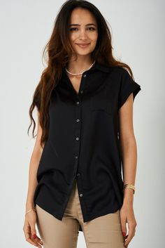 Buy Longline Shirt in Black on Fashionspree available at best price. Get it delivered right at your doorstop. The Black Keys, Shirt Blouses, Shirts, Long A Line, Hemline, Rompers, Plus Size, Clothes For Women, Doorstop