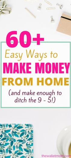 These ideas for making money from home are the BEST! I wanted an easy side hustle to earn money online from home and this article is FULL of great ideas. Definitely pinning for later!