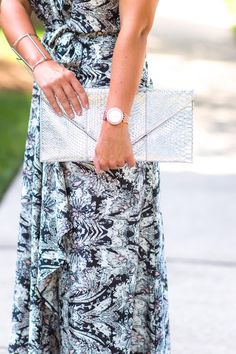 Maxi - Pleated Empire / Cuff - The Shopping Bag // www.kbstyled.com