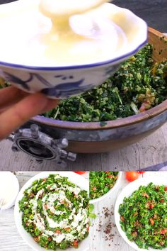 This Tabouleh with Tahini Dressing recipe is the best tabouleh recipe you can imagine – all made in a food processor. The quinoa makes this salad gluten-free while adding a bunch of nutritional value and texture! Tahini Dressing, Salad Dressing, A Food, Food And Drink, Vegetarian Recipes, Healthy Recipes, Vegetable Side Dishes, Mediterranean Recipes, Side Dish Recipes