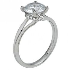 """Zoe"" Petite Split Shank Solitaire Engagement Ring - This was my favorite ring we saw at ERD in the city, it's probably tied for my number one choice with the other solitaire custom ERD ring (with the slightly different band). But if possible I would want it made with double claw prongs. 