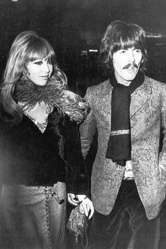 George Harrison and his wife Pattie Boyd arriving at the London Pavilion for the premiere of 'How I Won The War', 1967.