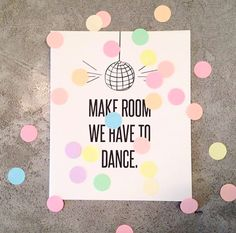 The Gift Label: Make room we have to dance 🎶 Confetti Cards, Gift Labels, Glamour, Social Media, Photo And Video, Postcards, Amsterdam, How To Make, Gifts