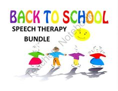 Speech Therapy Back to School Bundle from Speech Time on TeachersNotebook.com (49 pages)  - Speech Therapy Back to School Bundle