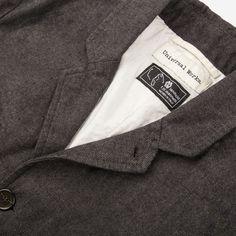 Universal Works // Veta Suit Grey Jacket Close Up