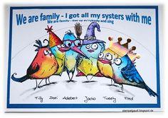 ' Stempelgaudi ': Bird Crazy - #10 - Crazy-Bird-Mania ... we are family ...