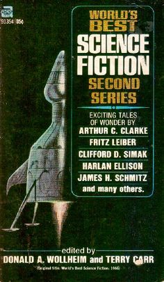 91354 DONALD A. WOLLHEIM and TERRY CARR (eds.) World's Best Science Fiction, Second Series (cover by Jack Gaughan; c.1966; 1970).#