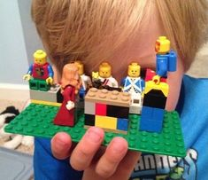 A creative way to journey through Holy Week with kids. Read scripture each day, and build a Lego scene to portray the story. Lego Creationary, Lego Toys, Jesus Stories, Bible Stories, Used Legos, Jesus Teachings, Lego Challenge