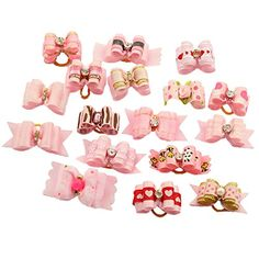PET SHOW Mixed Styles Pet Cat Puppy Topknot Small Dog Hair Bows With Rubber Bands Grooming Accessories Pink Pack of 20 ** Find out more about the great product at the image link. (This is an affiliate link) Dog Grooming Tools, Dog Grooming Supplies, Cat Grooming, Dog Supplies, Yorkie Poodle, Yorkie Dogs, Pet Dogs, Dog Cat, Dog Hair Bows