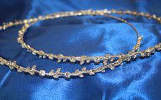 Vine Leaves, Crowns, Vines, Wedding Ideas, Crystals, Hair, Crystal, Arbors, Crown