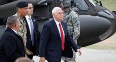 El vicepresidente de EE.UU. visita la frontera de Corea del Norte
