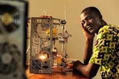 Kodjo Afate Gnikou is a 33 years old inventor from Togo, in West Africa. Using mostly e-waste that he found in a scrap yard, he built a functioning printer that he calls W. 3d Printing Business, 3d Printing Service, 3d Printer Designs, 3d Printer Projects, Diy Projects, Impression 3d, Innovation, Diy 3d, 3d Printed Objects