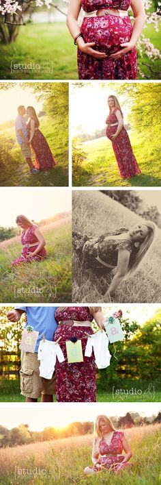 maternity pic idea with onesies and initials
