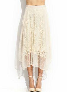 Romance In Lace Midi Skirt