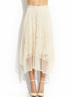 Romance In Lace Midi Skirt