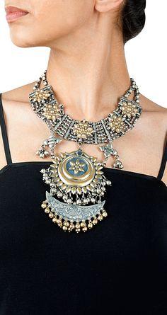 Amrapali Ethnic chand bali pendant necklace Product Code - AMC09135003 Price - $ 712