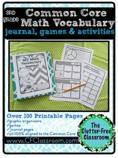 Helping students understand important key vocabulary words is crucial to their success in becoming proficient with the Common Core Standards.  This packet contains over 100 printable pages that are all focused on improving students' fluency with math vocabulary that is needed to become proficient in the 3rd grade Common Core standards.