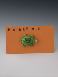 Buttons Ceramic Buttons Turtle Buttons Green by mermaidsbeads, $6.50