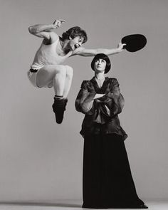 Mikhail Baryshnikov and Twila Tharp. New York, December 25, 1975, by Richard Avedon