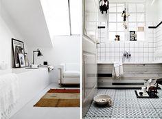 {BLACK. WHITE. YELLOW.}: Lovely Bathroom Inspiration...