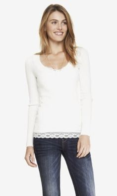 FITTED V-NECK SWEATER from EXPRESS ^^^^^^^^^^^^^^^^^^^^^^^^^^^^^^^^ This got 4 and a half stars, it's bound to be nice and comfy....