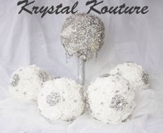 Brooch Bouquet Bridal Package Bridal Packages, Bouquet, Brooch, Bunch Of Flowers, Brooches, Floral Arrangements, Bouquets