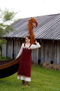 850's Norwegian Viking Woman's Underdress by HeddlesandTreadles, $90.00