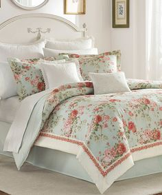 Look what I found on #zulily! Green Floral Vivienne Comforter Set #zulilyfinds