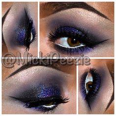 .@Michael Aitken P   More glitter! Cat Eye lashes by @trueorfalselashes