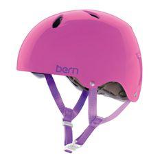 Bern Diabla EPS Summer Youth Girls Bike Helmet Large Translucent Pink