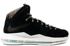 lowest price ccb0c 9fda9 Nike Lebron 10 EXT QS Black Suede   Mint  bestsneakersever.com