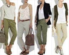 pantalon chino ancho mujer outfit - Buscar con Google