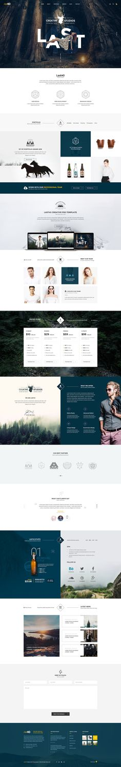 Last40 - Creative PSD Template on Behance