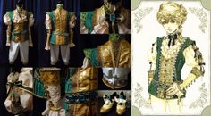fashion cosplay costumes jewels progress artbook making of sakizo sakizou prince emerald