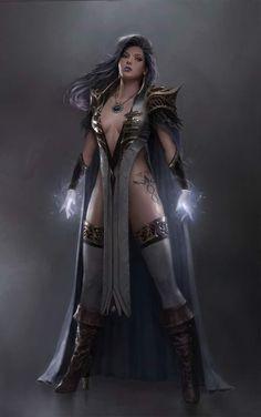 fantasy and science fiction: Bild Fantasy Girl, High Fantasy, Fantasy Warrior, Fantasy Women, Medieval Fantasy, Female Character Design, Character Art, Fantasy Characters, Female Characters