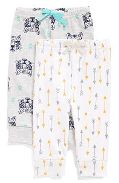 ROSIE POPE Print Cotton Pants (2-Pack) (Baby Boys) available at #Nordstrom