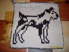 Ravelry: DF-Topflappen Hund 2 (Jack - Russel - Terrier) pattern by maku flo