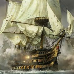 ۞The Gentleman - Piratenschiffe - yacht Pirate Art, Pirate Ships, Bateau Pirate, Old Sailing Ships, Ocean Sailing, Ship Of The Line, Ship Paintings, Age Of Empires, Wooden Ship