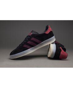 watch da11b e3f4d Adidas Gazelle Black Maroon Red Sale online Adidas Gazelle Black, Black  Adidas, Red Trainers