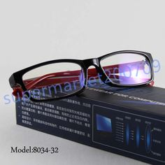Antistress Computer Reading Glasses Eyewear UV protect Oculos Red Temple Plano…