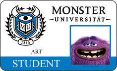 Studentenausweis - ART #DieMonsterUni © Disney•Pixar