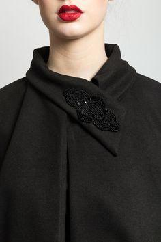 Detail Black Cape by Jennifer Rothwell