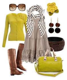 """""""yellow green"""" by htotheb ❤ liked on Polyvore featuring Manumit, Fantasy Jewelry Box, H&M, Monsoon, Vero Moda, The Row, Gucci, green, yellow and horizontal stripes"""