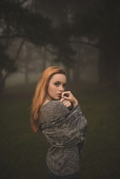Natural outdoor portraits with megan bea tiernan in mist, fog forest in killiney hill  0024