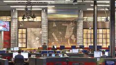 """El cuartel general de TMZ, """"el imperio mediático del cotilleo"""" situado en Los Angeles y diseñado por Rapt Studio."""