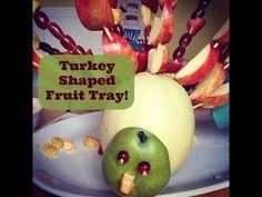 Thanksgiving Side Dish Turkey Shaped Fruit Tray - YouTube