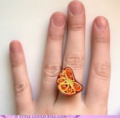 Quilled Ring.  Cool.